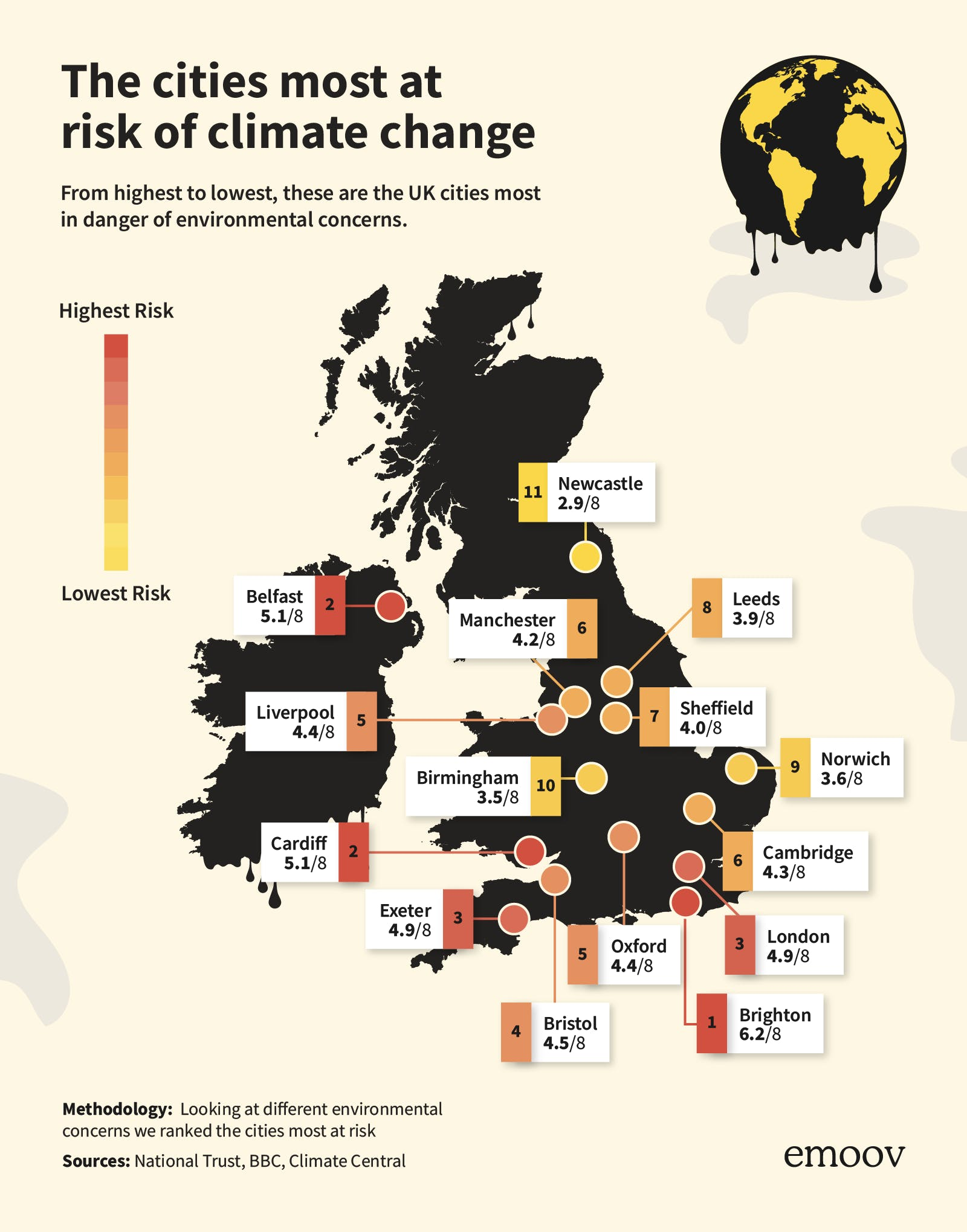 Mapped: The cities most at risk of climate change