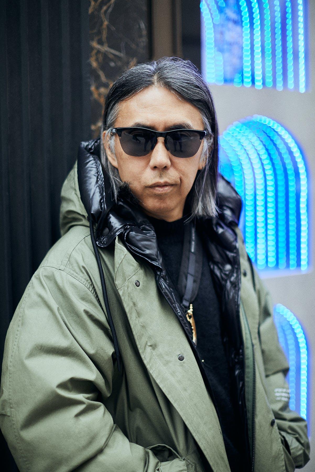 Hiroshi Fujiwara photographed in London