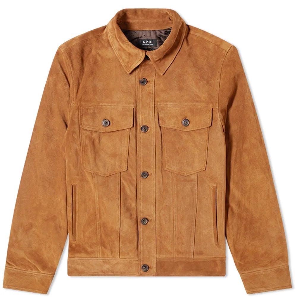 A.P.C. Suede Trucker Jacket