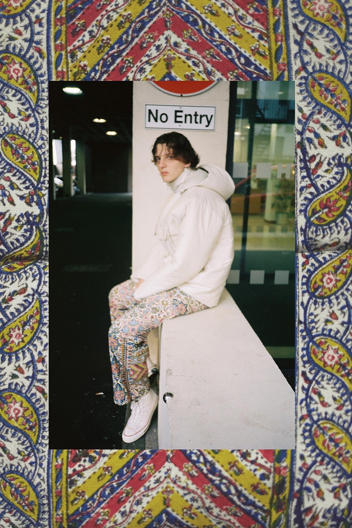 Model wears Paria Farzaneh AW19 at END.