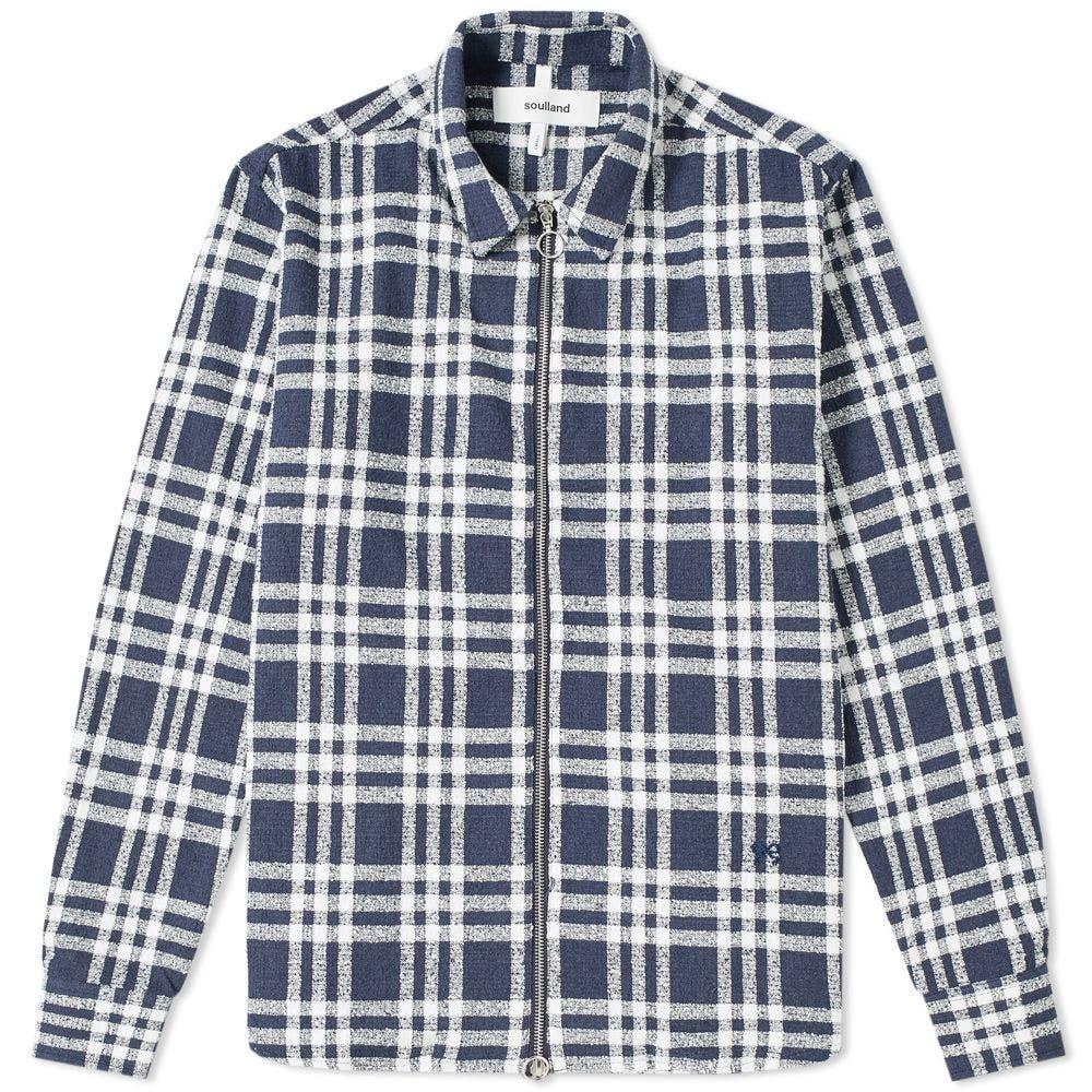 Soulland Checked Zip Overshirt