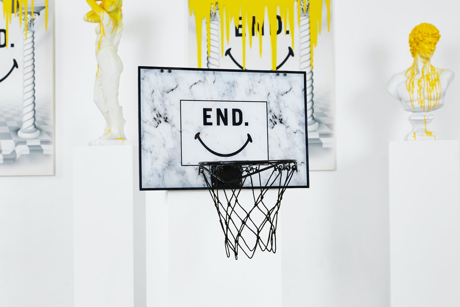 END. x Chinatown Market collaboration Smiley mini hoop