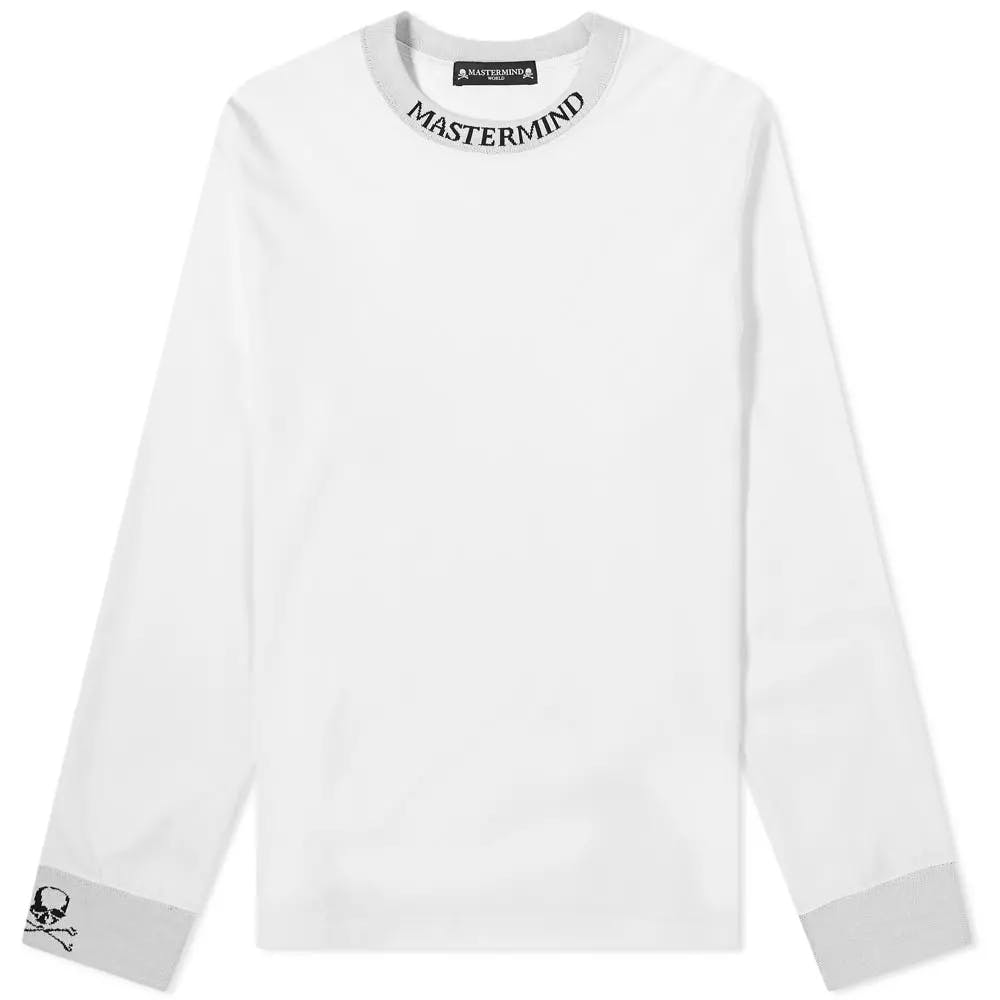 MASTERMIND WORLD Long Sleeve Logo Collar Tee