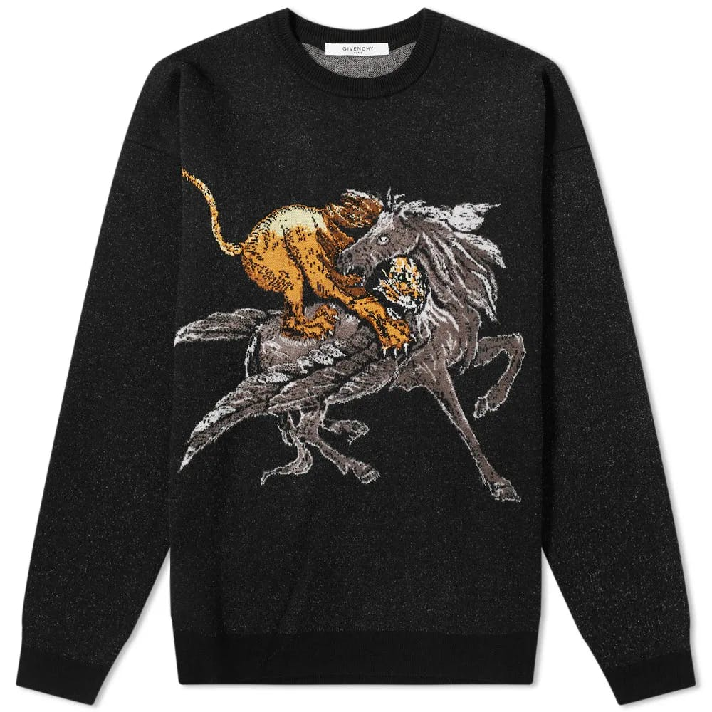 Givenchy Lion & Pegasus Crew Knit