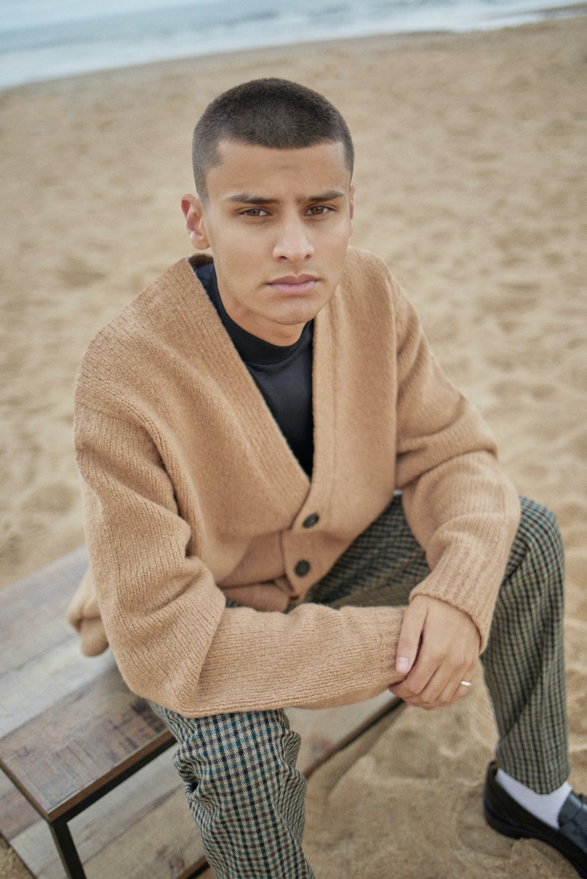 Acne Studios cardigan for Bare Minimum END. editorial