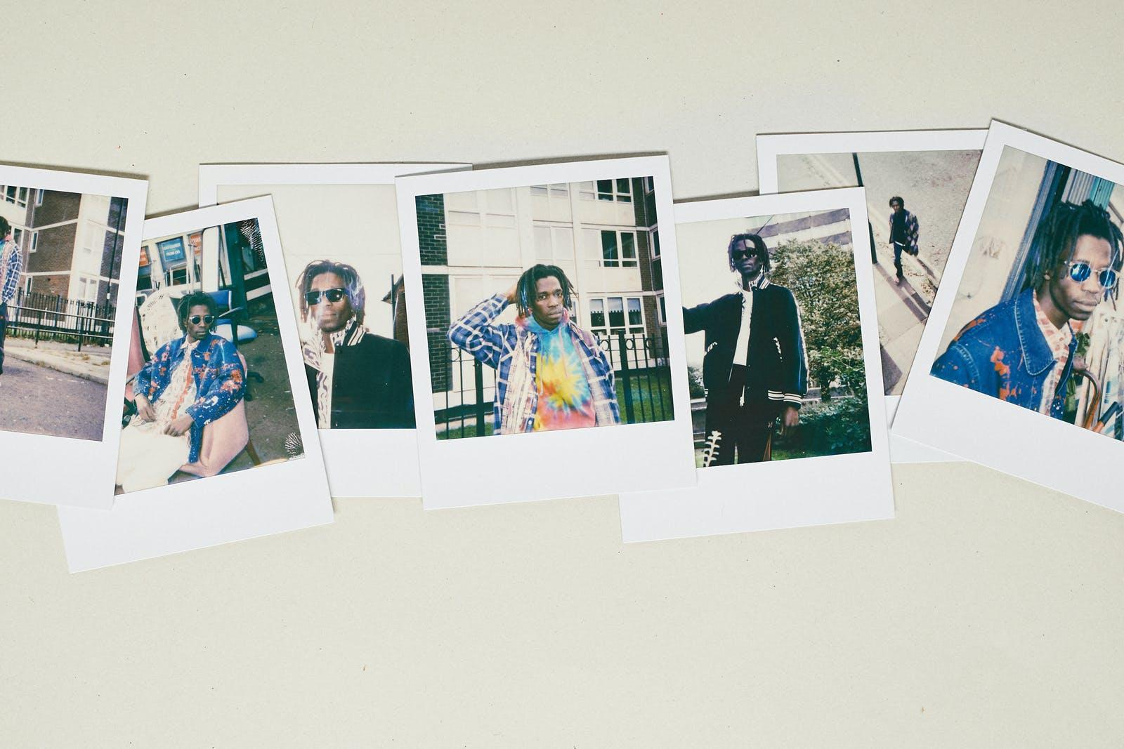 Needles AW19 polaroid selection featuring tie dyed garments