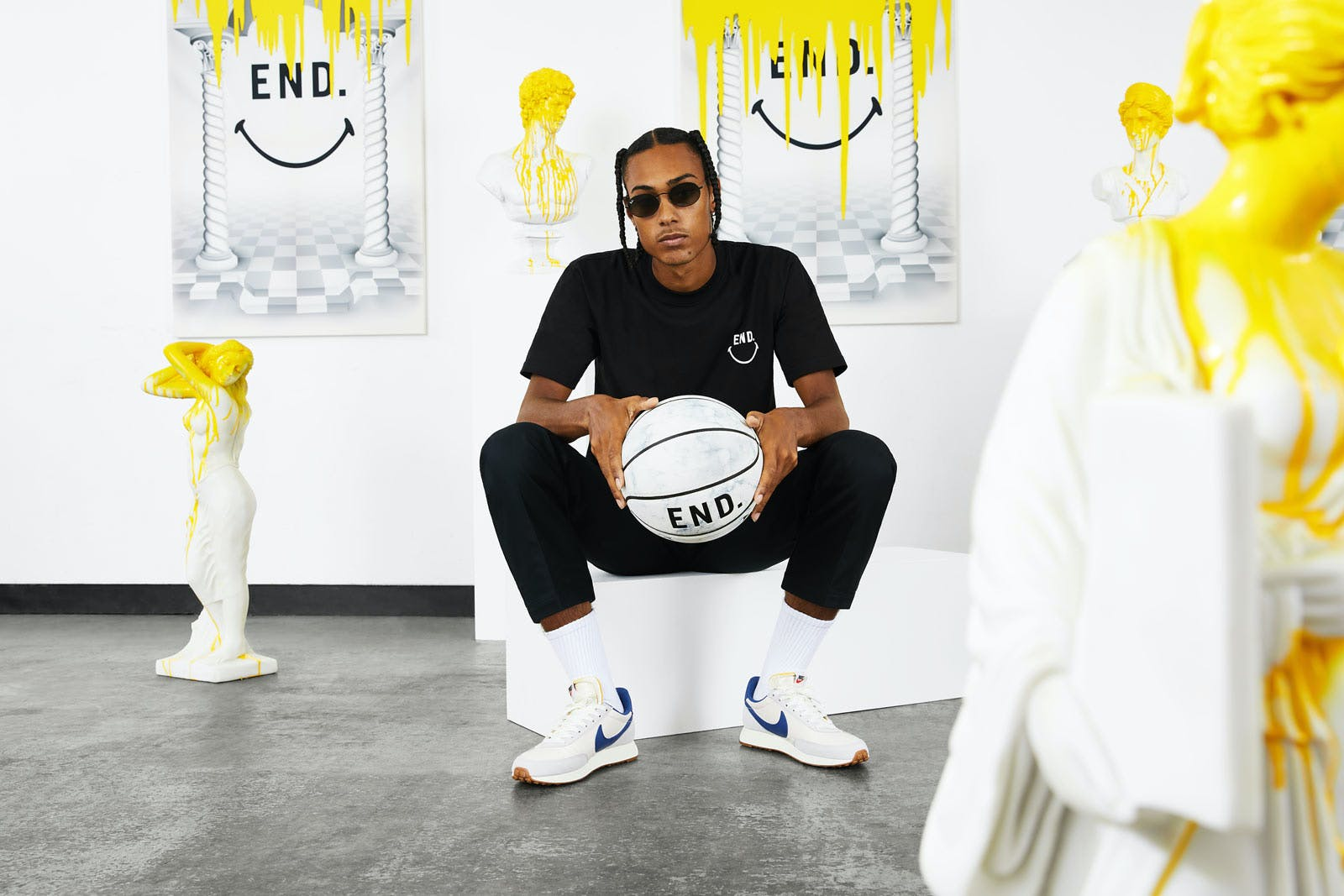 END. x Chinatown Market collaboration basketball