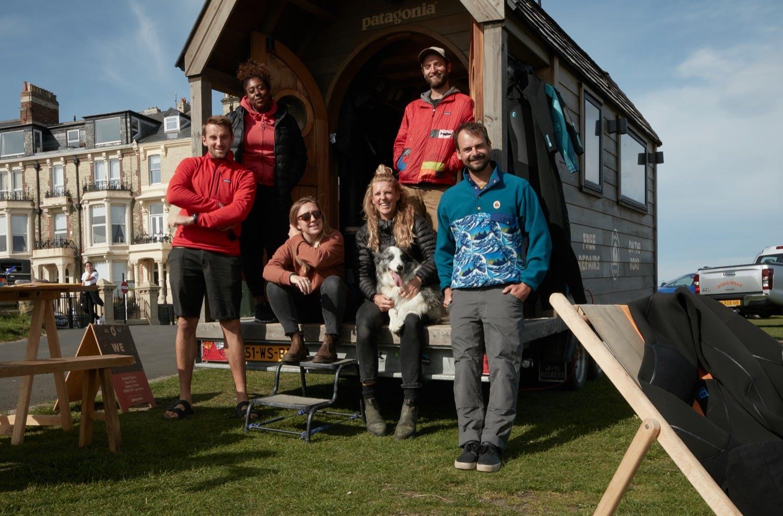 Gabriel Davies and team on the Patagonia Worn Wear Summer Tour 2019