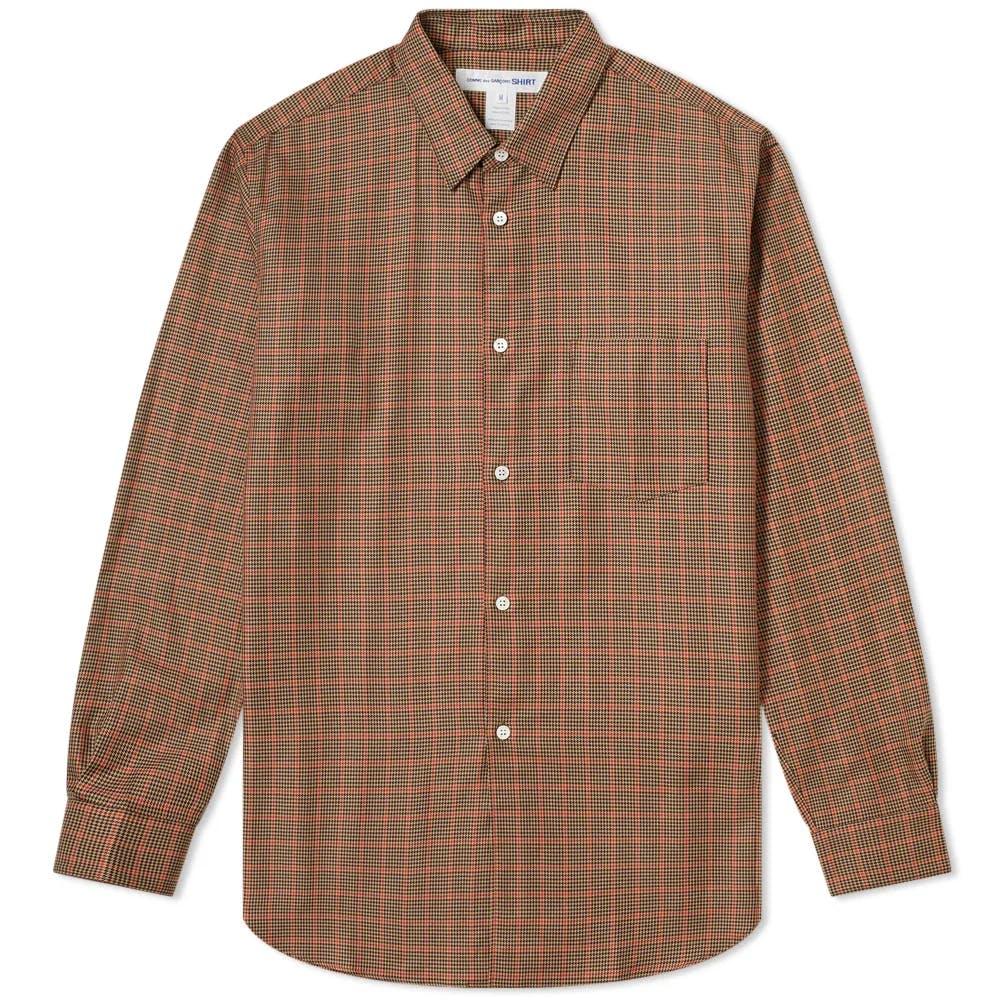 Comme Des Garçons SHIRT Poplin Tweed Check Shirt