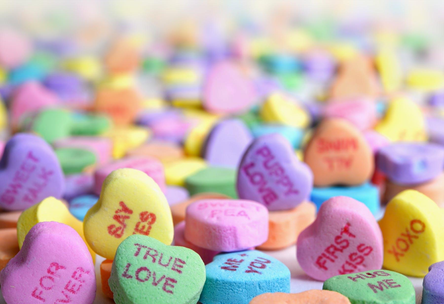heart candies