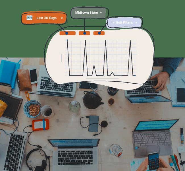 Graph with sales metrics