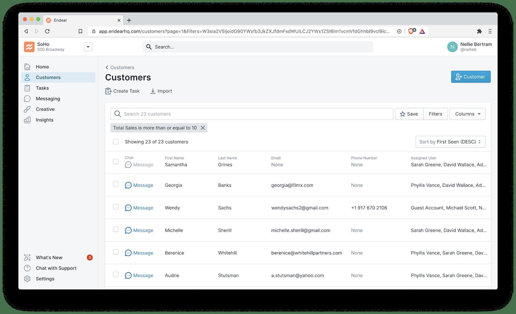 customer CRM database