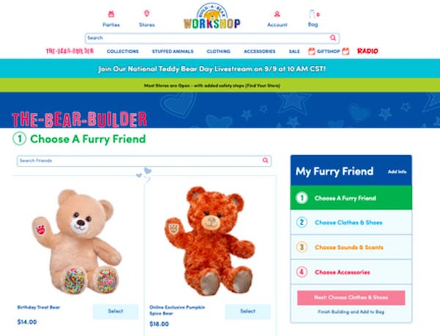 build-a-bear page