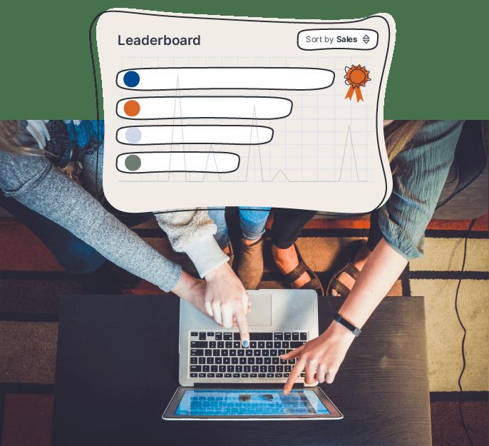 Team-wide sales leaderboard