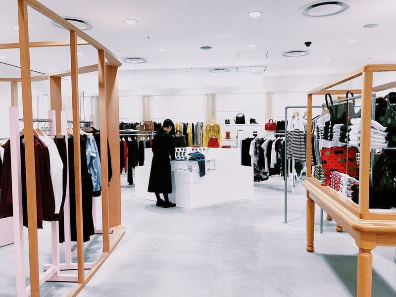 inside a clothing store