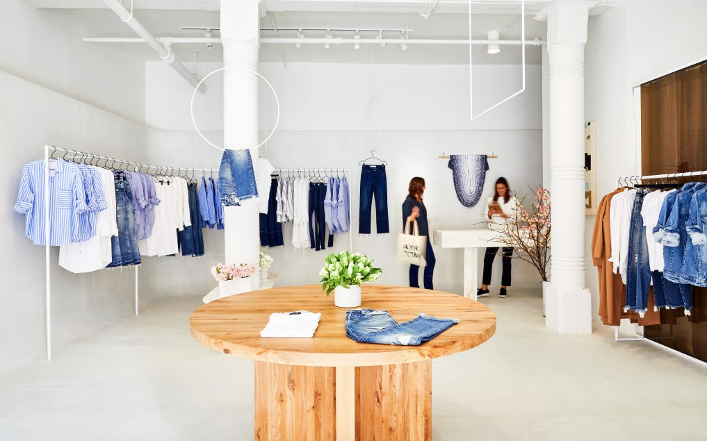 Inside a store