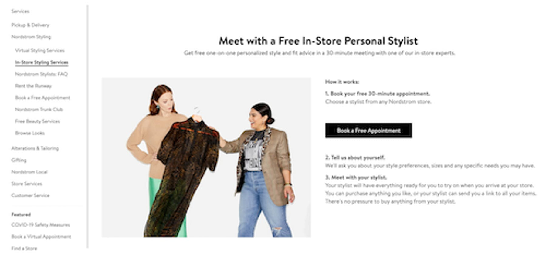 Nordstrom in-store stylists
