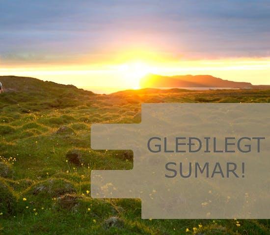 Starfsfólk Endurmenntunar óskar viðskiptavinum og kennurum gleðilegs sumars og þakkar fyrir veturinn. Njótið dagsins ☀️