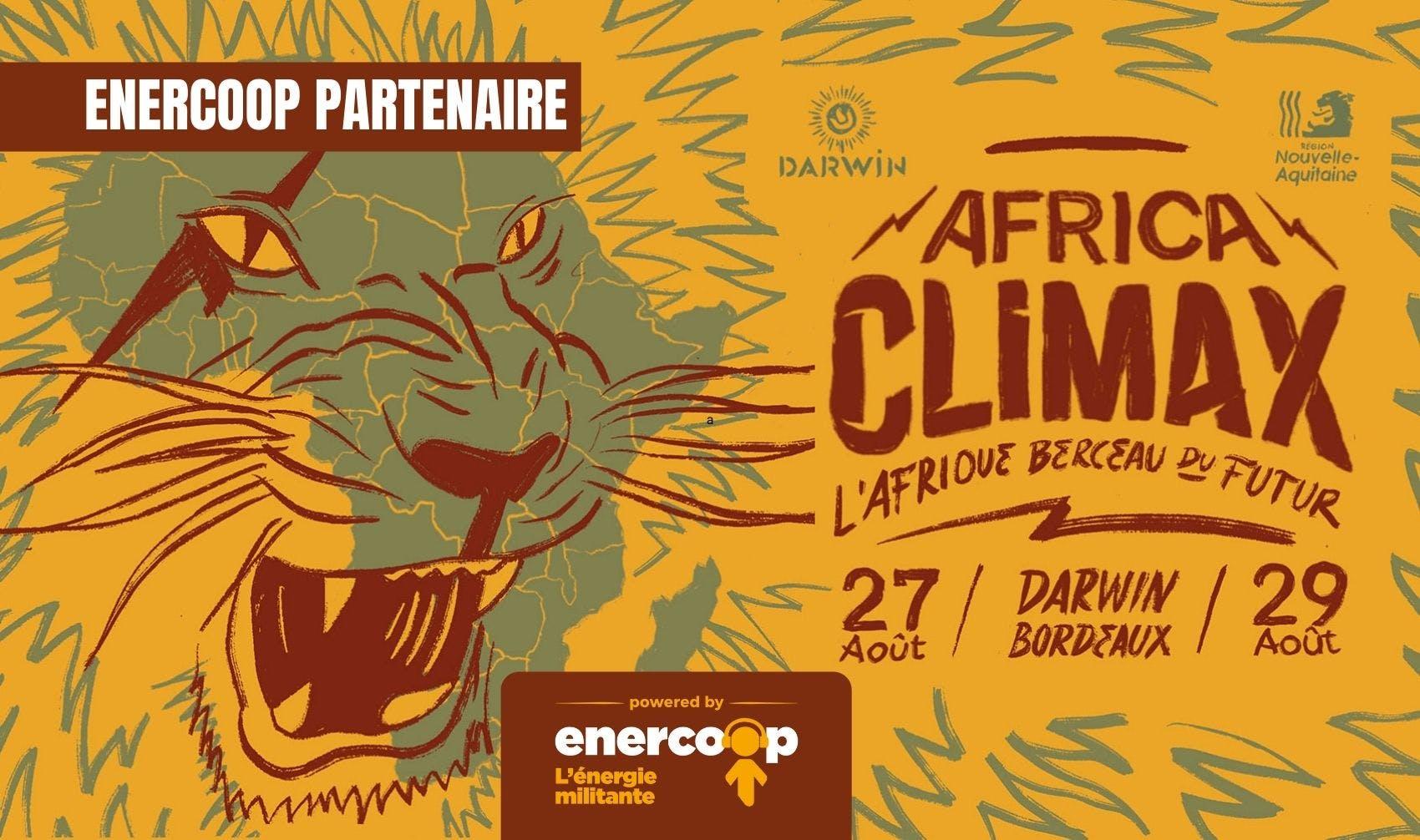 Enercoop partenaire du festival AFRICA CLIMAX - Enercoop Nouvelle-Aquitaine