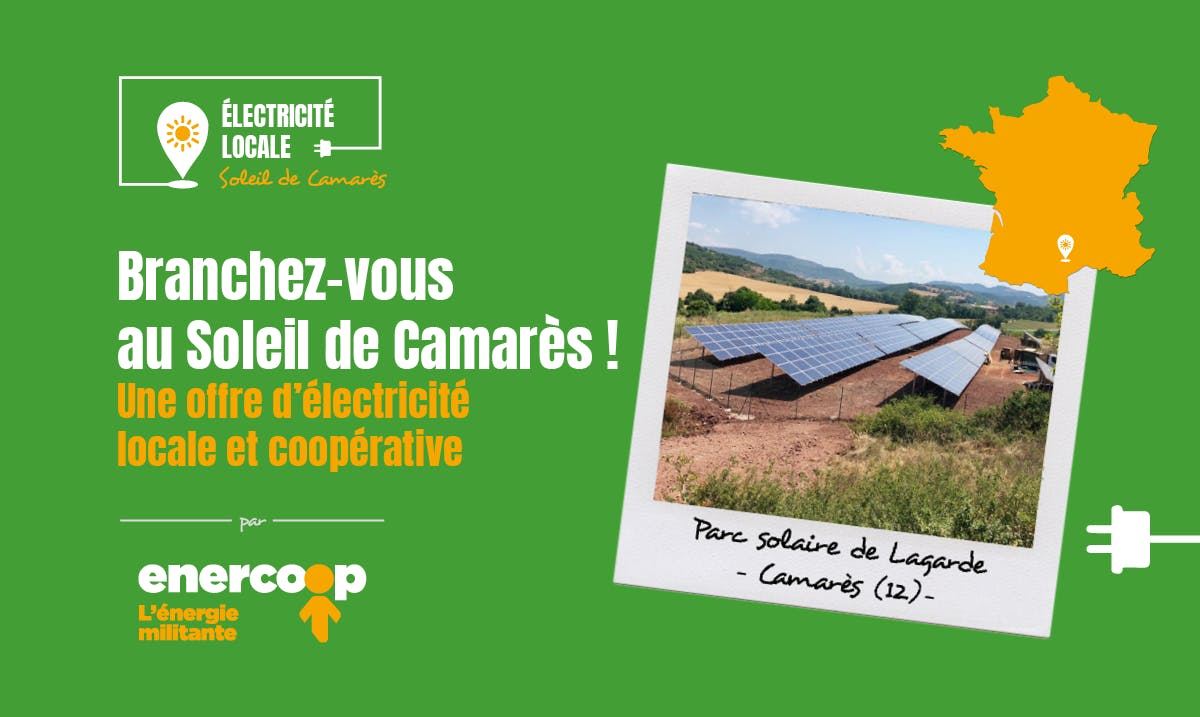 offre locale Soleil de Camares - Enercoop