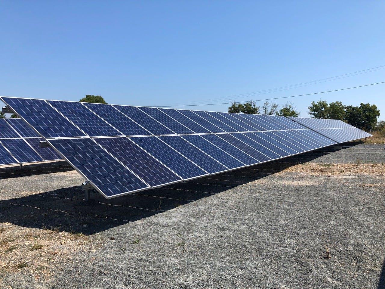 Parc solaire de Vayssière à Montfaucon