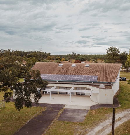 Centrale solaire du TEPOS de la Haute Lande à Escource