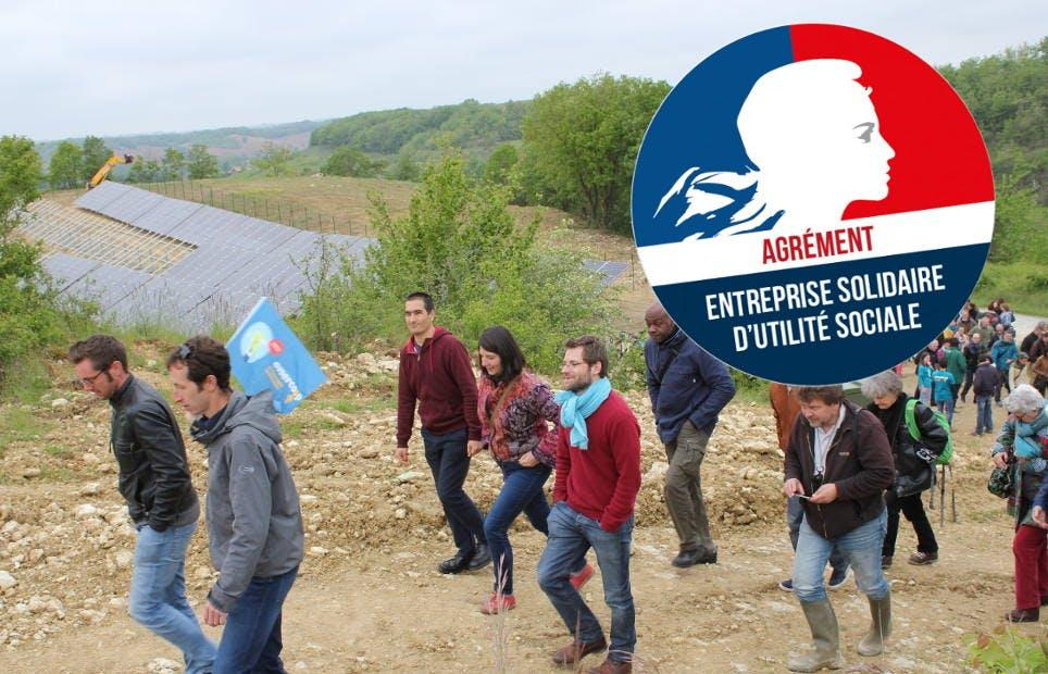 Enercoop Midi-Pyrénées agréée ESUS