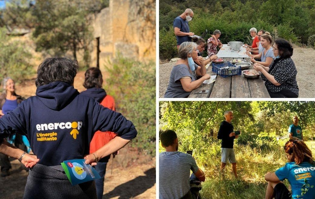 Photos de sociétaires au week-end ambassadeurs d'Enercoop PACA - Enercoop Nouvelle-Aquitaine