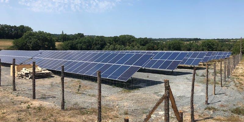 Le parc solaire de Vayssière à Montfaucon