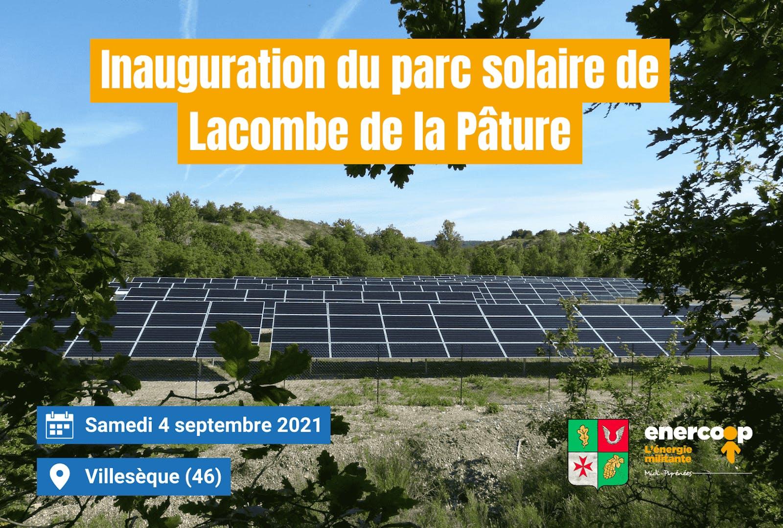 Visuel d'annonce de l'inauguration du parc solaire de Villesèque