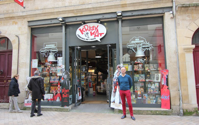 Gérant de KrazyKat, librairie BD à Bordeaux - Enercoop Nouvelle-Aquitaine