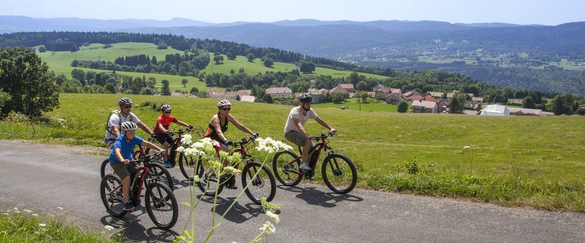 Ballade en vélo dans les montagnes