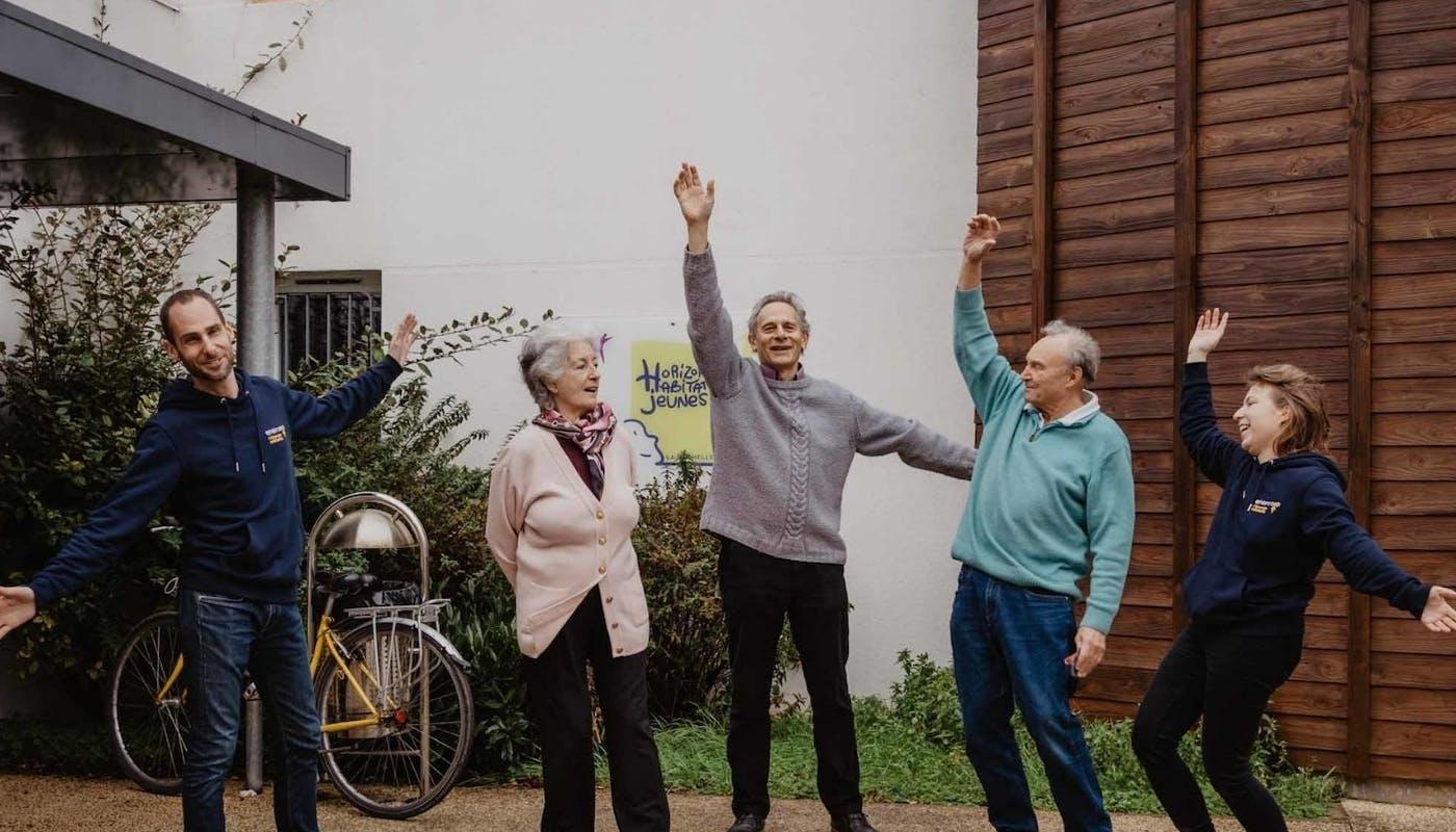 Des sociétaires du groupe local Enercoop et salariés à la Rochelle - crédit photo : Lycia Walter - Enercoop Nouvelle-Aquitaine