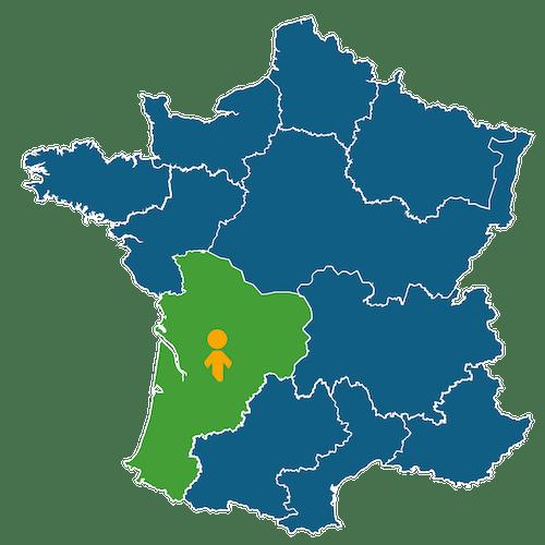 Cartographie des territoires Enercoop - Enercoop Nouvelle-Aquitaine