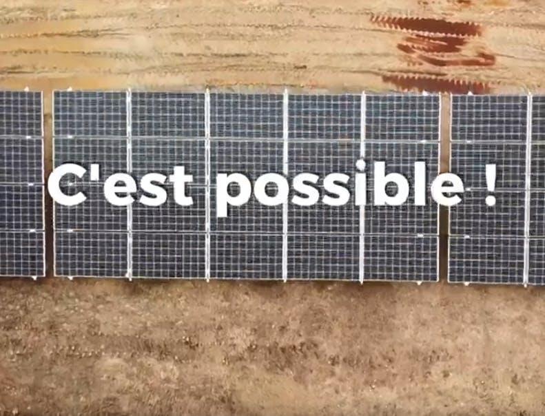 Capture écran de la vidéo de présentation du parc solaire de Montéchut à Auterrive (32)
