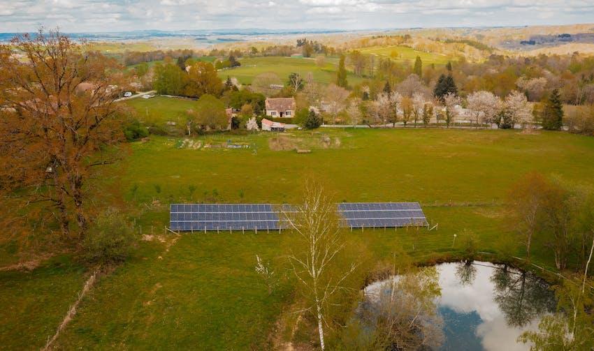 Centrale photovoltaïque au sol - Rilhac-Lastours - crédit photo : Lycia Walter - Enercoop Nouvelle-Aquitaine