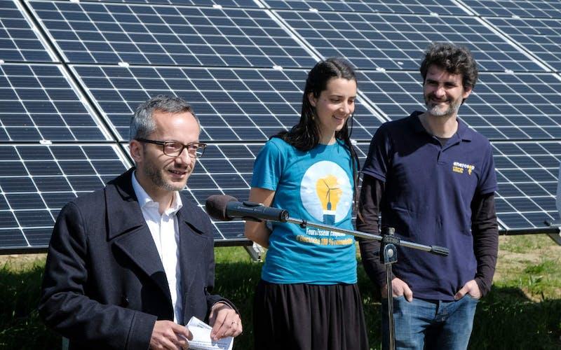 Discours Sébastien Vincini au parc solaire d'Espalmade à Cintegabelle - Enercoop Midi-Pyrénées