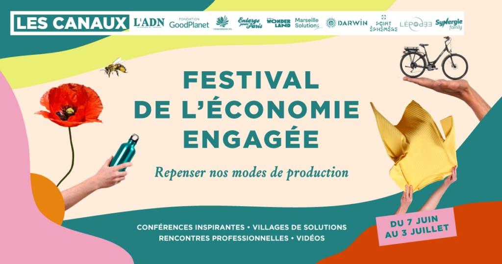 Visuel du festival de l'économie engagée - Enercoop Nouvelle-Aquitaine