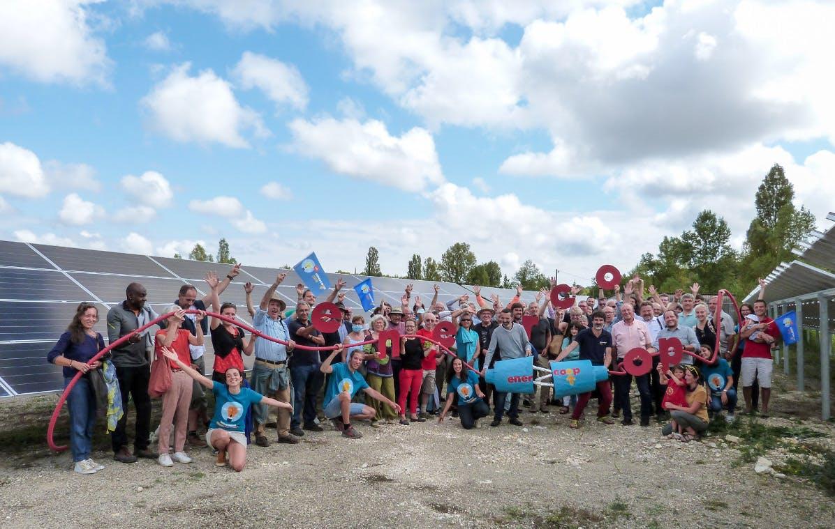 Inauguration du parc solaire de Villesèque par Enercoop Midi-Pyrénées - sept 2021