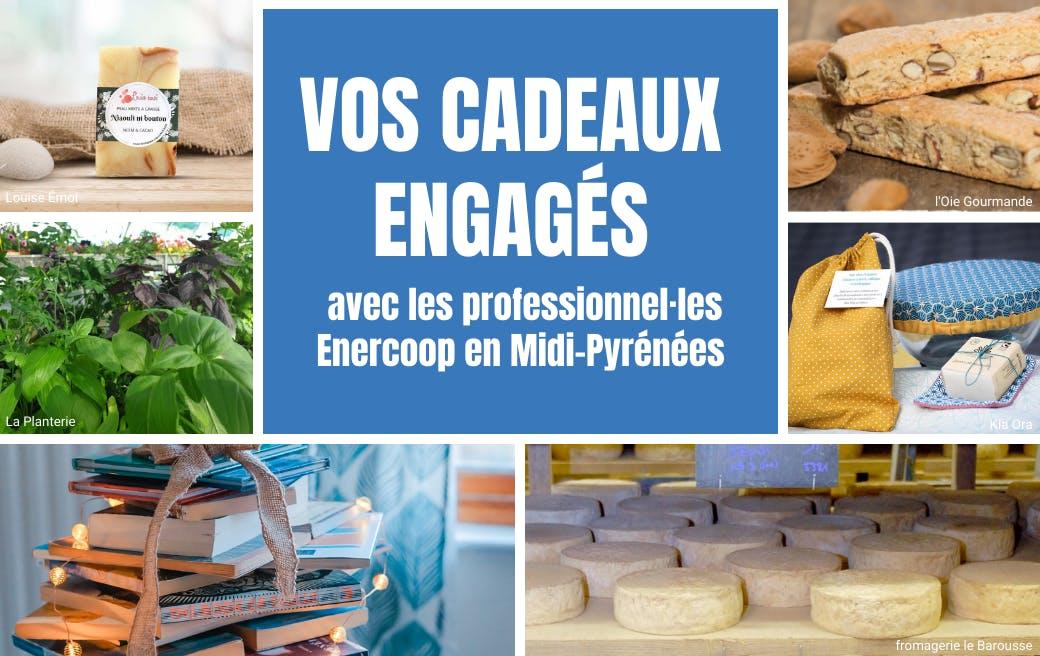 vos cadeaux engagés avec les professionnels Enercoop en Midi-Pyrénées - pannel photo