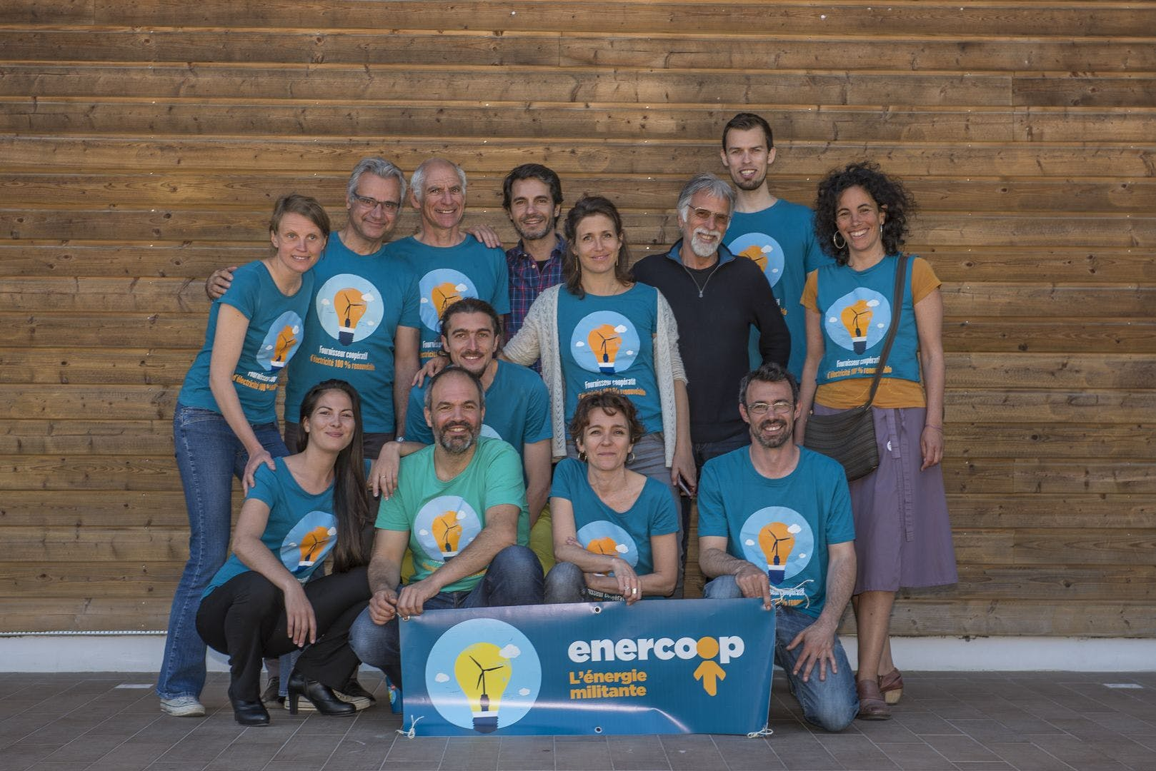 Photo de groupe du Conseil d'Administration d'Enercoop Paca