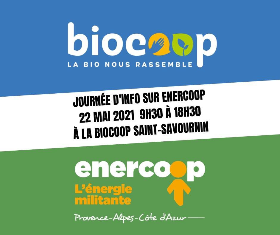 Enercoop Paca - Evénement - Journée d'info Biocoop Saint Savournin - Visuel