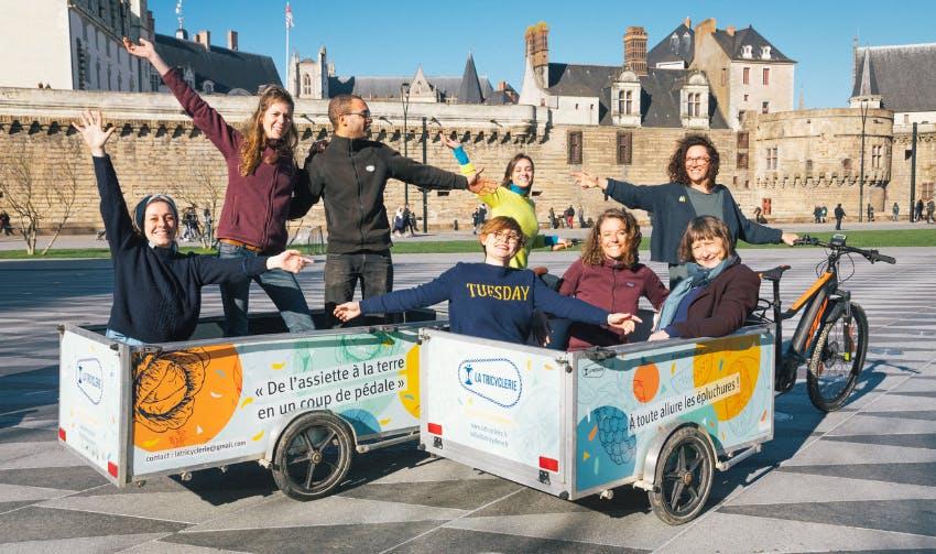 Enercoop Pays de la Loire : équipe de la Tricyclerie