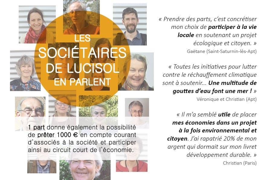 Enercoop Paca - Producteurs - Lucisol 104 Apt 84 - Témoignages sociétaires