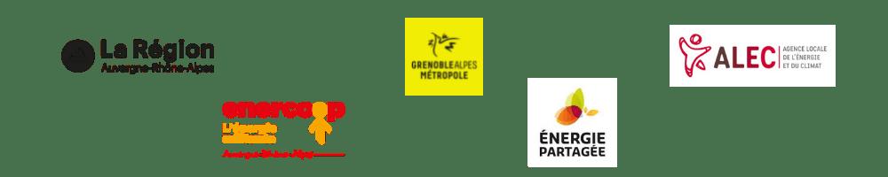 La région Auvergne-Rhône-Alpes, Alec métropole de Grenoble, Enercoop AURA, Energie partagée