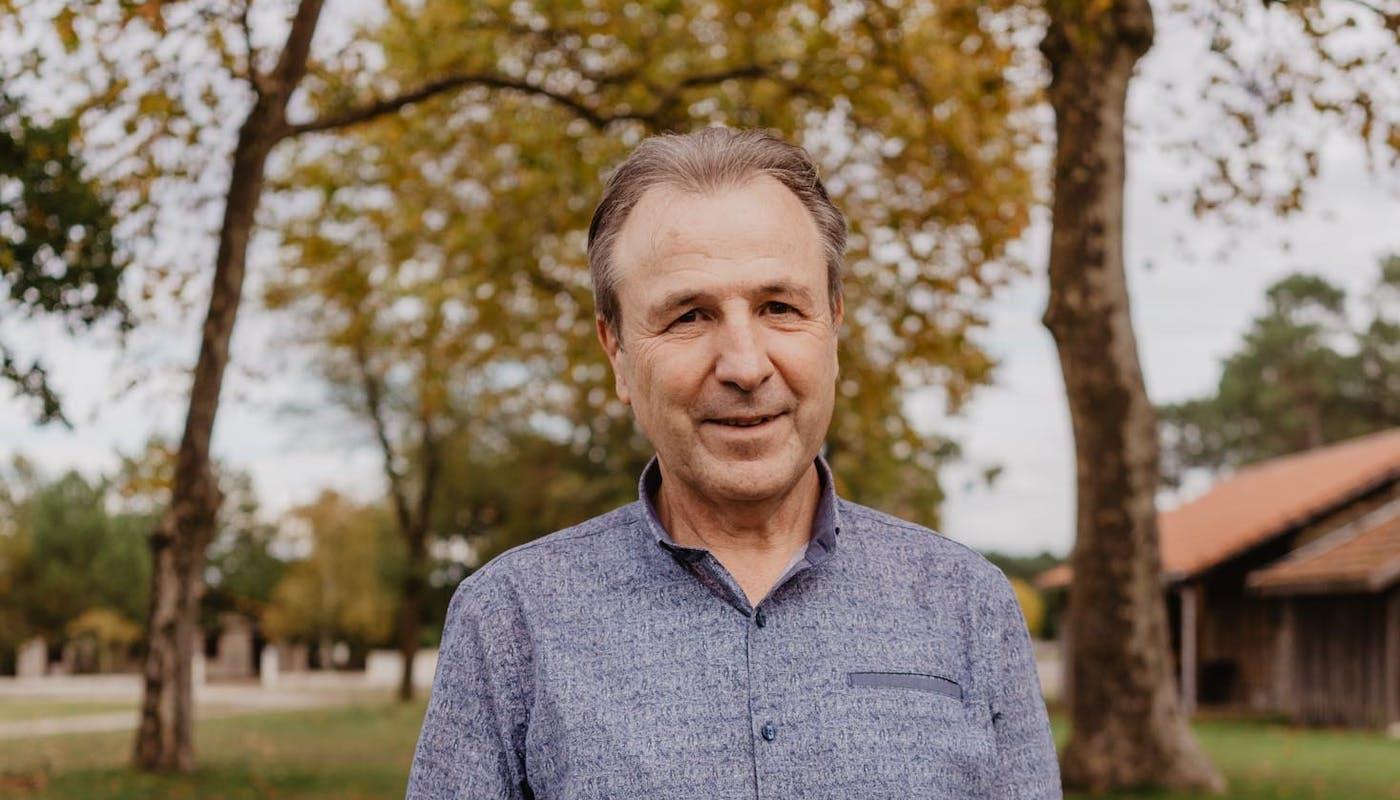 Patrick Sabin, Maire d'Escource et Président de la Société d'Economie Mixte du TEPOS de la Haute Lande, une entreprise publique sociétaire et membre du Conseil d'Administration d'Enercoop Nouvelle-Aquitaine.