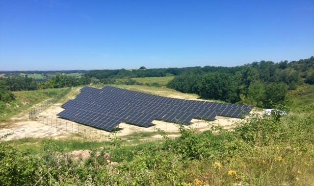Parc solaire de Montéchut à Auterrive (32)