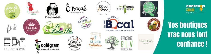 Enercoop Pays de la Loire - logos épiceries vrac