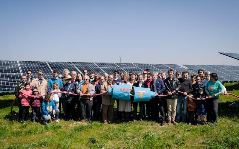 Inauguration du parc solaire d'Espalmade à Cintegabelle par Enercoop Midi-Pyrénées