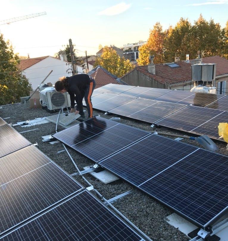 Enercoop Paca - Production - Massilia Sun System - Deuxième Installation photovoltaïque - Travaux